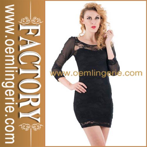 Chegada nova moda preto atacado vestidos para festas