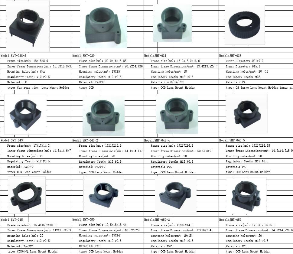 Cs Mount Lens Holder M12 P0 5 18 Mm Hole Spacing Abs Cctv