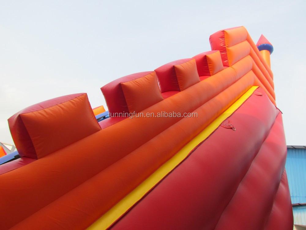 2016 самый популярный профессиональный поставщик гигантские надувные слайд, гигантские надувные водные горки, надувные прыжки слайд