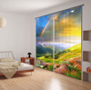2015 Hottest European style romantic rainbow moutain 3D digital Printed Curtain 100% shading blackout window curtains