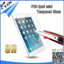 98% Transparency high clear tempered glass screen protector for ipad mini
