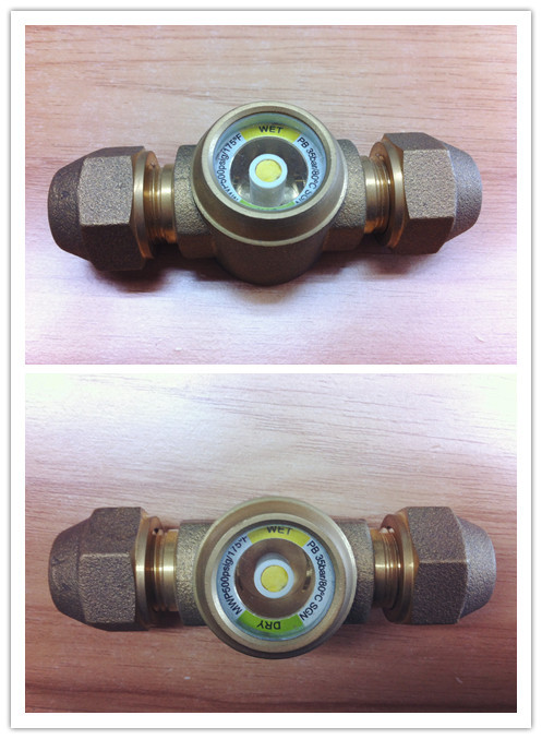 Round sight glass for refrigeration system view