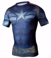 Base Layer Sports Gear Stretch Jersey Men Superhero Compression T-Shirts