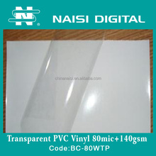 80mic Transparent Vinyl Film For Car Stickers Full Body Wrap