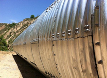 Assembly corrugated culvert steel pipe