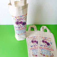 China alibaba cheap reuseable canvas wine tote bag/bottle bag