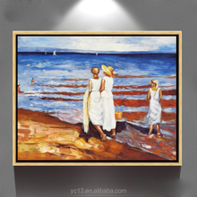 Remarkable hand painted modern home decor art canvas framed seascape oil painting ct-282