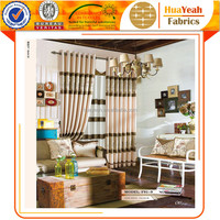 Ready-made beige color polyester curtains