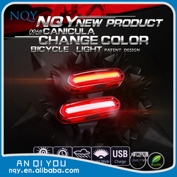 NQY high quality two color waterproof bicycle light led light bike