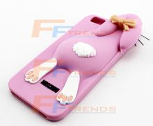 Best Soft Silicone Cover Case for iPhone6 , Cute Cartoon Rabbit Phone Shell, Mobile Phone Silicone Case Cover Back