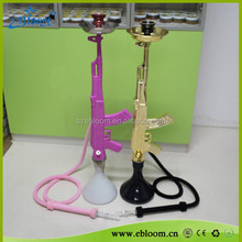 Colorful Art Design AK47 Glass Hookah with Single Hose