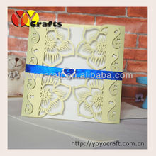 INC42 wedding paper birthday party favors cheap wedding invitation card with green pearl