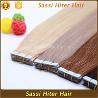 Qingdao Factory 100% Indian Remy Hair Tape Hair Extension