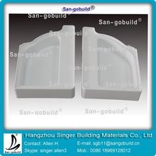sgb 5 pulgadas aes el último de la resina de plástico canal de la lluvia y accesorios para el techo de una mejor
