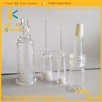 Hot sale high quality plastic vials with rubber stopper