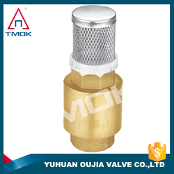 check valve with union nut and iron handle with forged piston brass body 6 inch NPT threaded connection with control valve
