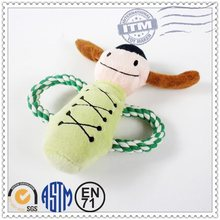 Factory Promotion Custom Made Plush Pet Products tough dog ball with rope