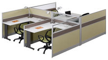 L6+D32 customized office desk aluminium partitions profile cubicle dell computer modular 4 person office furniture workstation