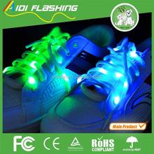 pair blister card pack fashion colorful flashing led shoelaces,light up shoelace,flashing shoelace.the sixth generation