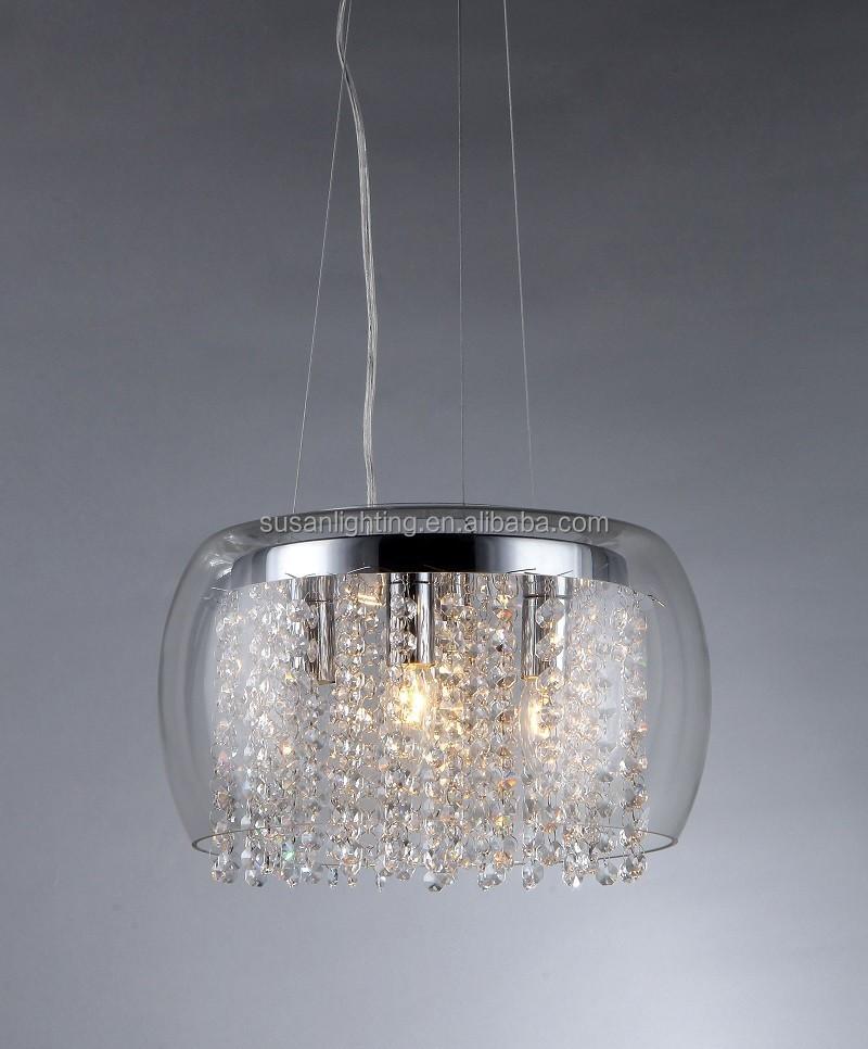 Single Candle Shade Glass Bulb Pendant Lamp