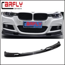 REAL CARBON FIBER FRONT LIP SPOILER FOR BMW F30 M-TECH 320i 328i 335i 12UP B120