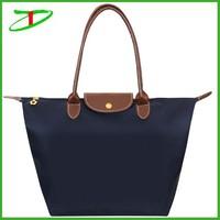 2015 Promotion foldable beach bag for women, wholesale folding lady handbag