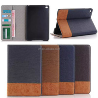 For Apple iPad mini 4 cross pattern tablet wallet Leather case cover