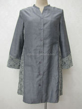 open front formal muslim ladies long skirt and blouse