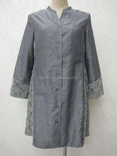 Avant ouverte formelle musulmane longues pour femmes jupe et blouse