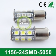 Quality products 1156-24smd 12v 24v led auto light 5050 car led automotive led light