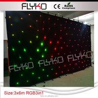 Christmas decorative led rgb star curtain