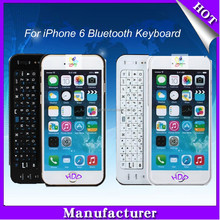 Ultra-thin Wireless Slide-out Mini Bluetooth Keyboard for iPhone 6 keyboard, Detachable/Removeable Keyboard Case