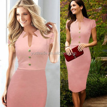 2015 new free prom dress newest fashion Bodycon long pencil office dress