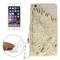 Newest design Angel Wings 3D electroplating hard PC back cover case for iPhone 6 4.7 inch