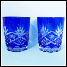 Hand Engraved Colored Glass Cups, Tumbles, Shot Glass