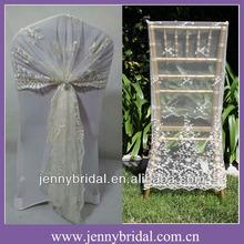 C122E jenny bridal fancy lace chair wrap , lace chair sash, lace chair covers