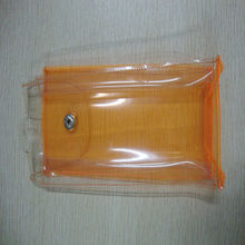 Orange plastic gift pouches