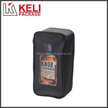 Custom simple desing PU leather wine bag