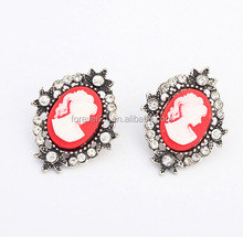 MOQ 20 Pairs-- Antique earrings with human portrait
