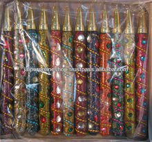 Lac Glitter Mirrors Work Pens Indian Handmade Handicrafts Gift Products