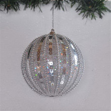 Christmas Gifts Fashion Sequins Round Ball For Christmas Tree Ornaments