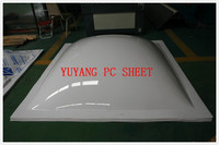 pc solid sheet/ polycarbonate dome skylight with round frame, high transmission dome skylight