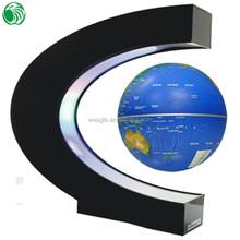 high end gift C shape base 3 inch magnetic levitation terrestrial globes