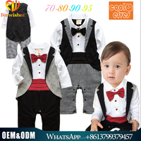 2015 toddlers clothing boys rompers autumn design christmas baby romper boys dress suit for wedding