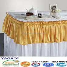Pleated satin wholesale popular meeting table skirts