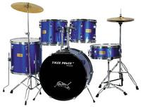 5-pc Modern hard ware-black coated drum set