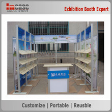 Easy installation and dismountable exhibition booth material made in China