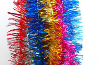 Hot selling and promotional shiny Christmas tinsel garland wire tinsel