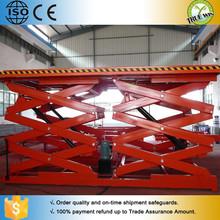 10ton Heavy Duty Storage Unit / Warehouse / Cargo Hold Stationary Hydraulic Scissor Lift Platform For Sale