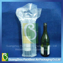 recycle plastic wine bottle carry handle air bag packaging